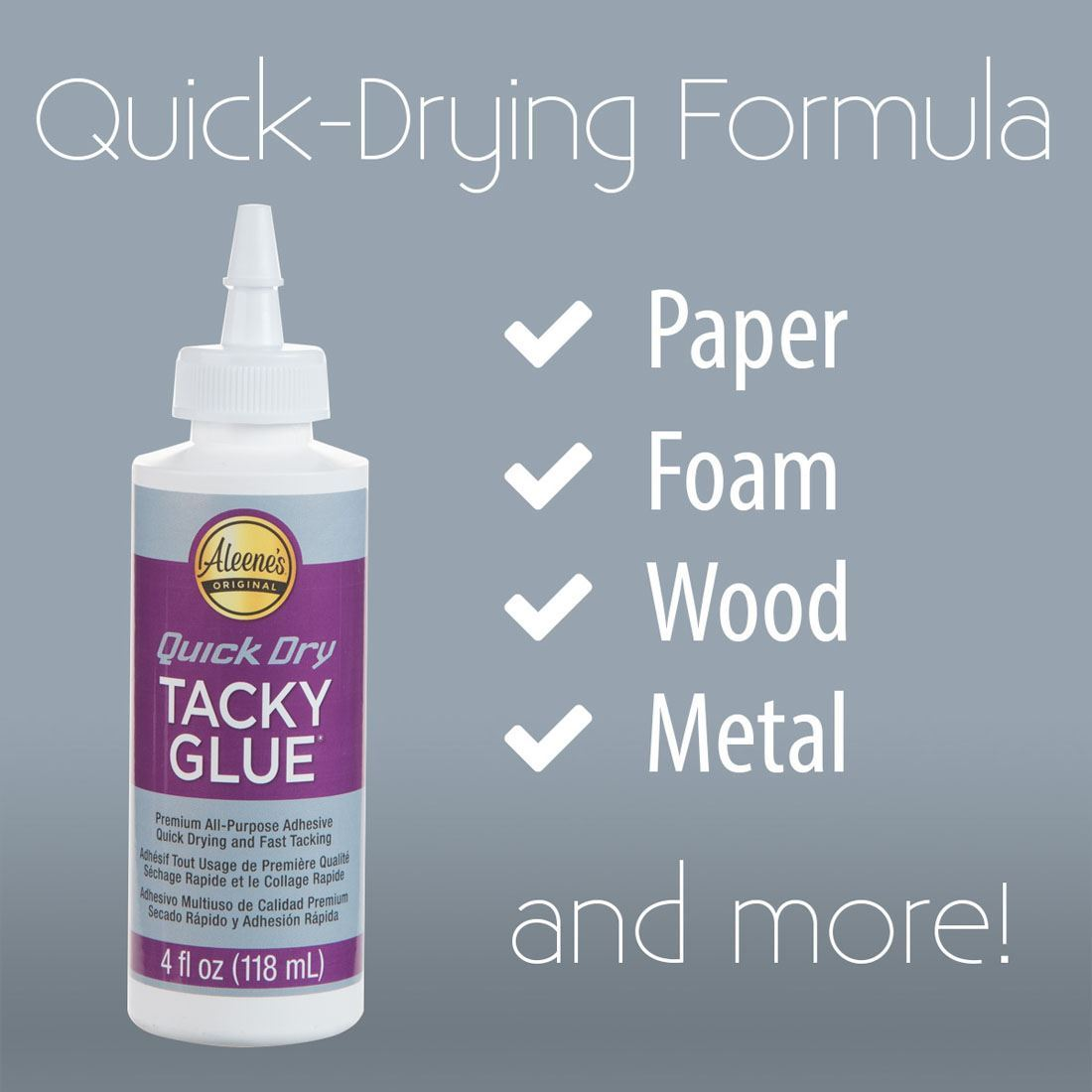 Quick Dry Tacky Glue - Surfaces