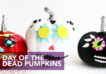 Picture of Day of the Dead Pumpkins Tutorial