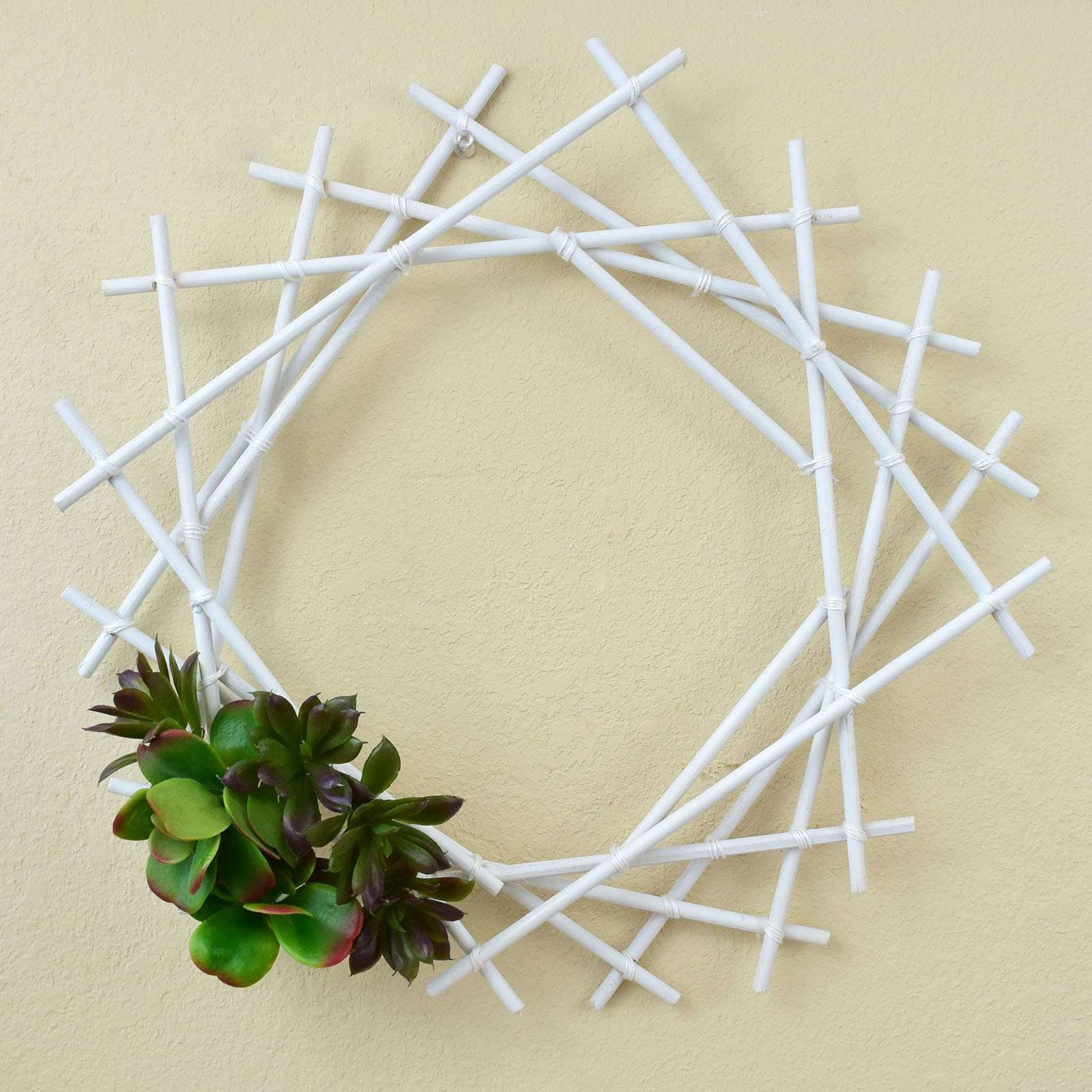 Picture of Geometric Succulent Wreath