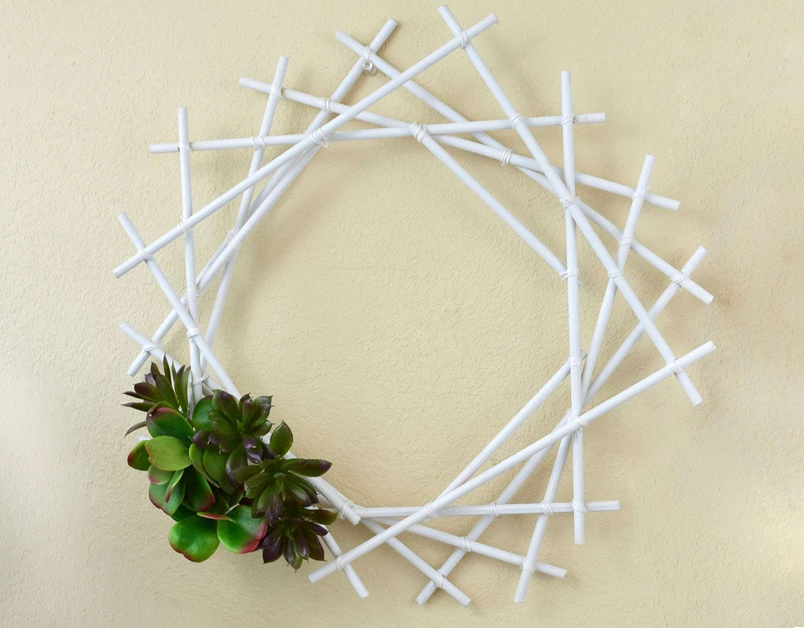 Geometric Succulent Wreath Step 12