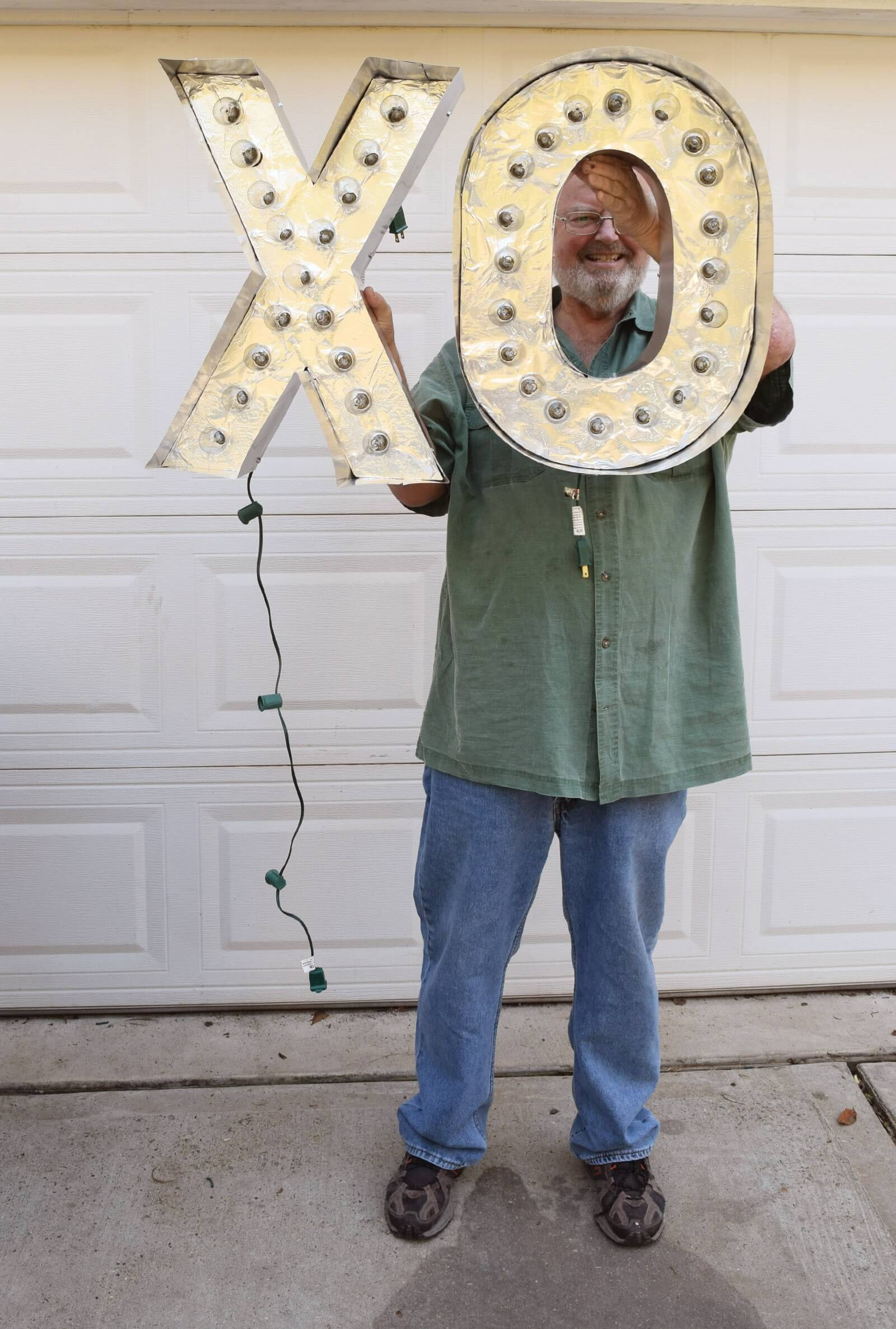 DIY Reflective Marquee Letters Step 27