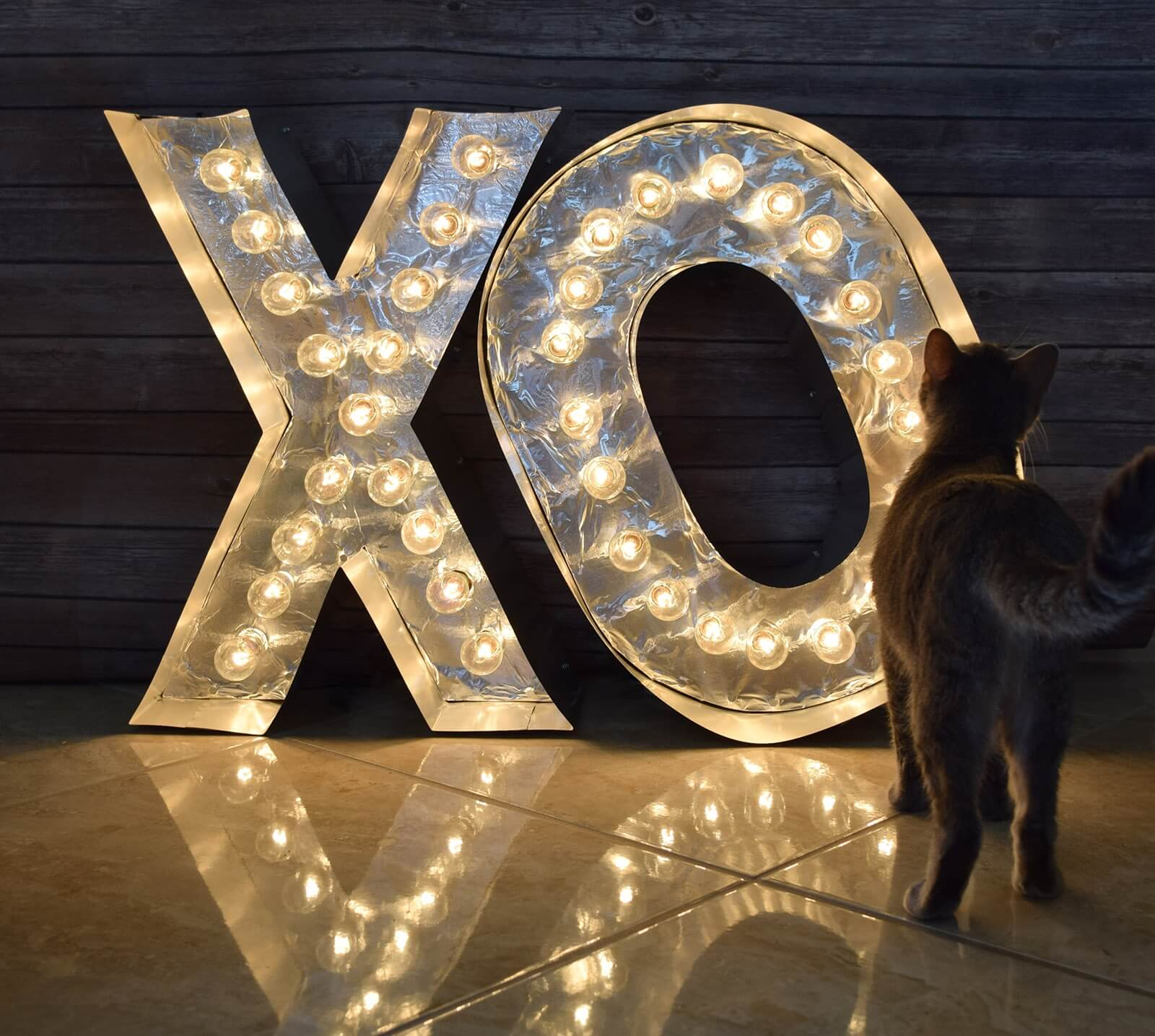 DIY Reflective Marquee Letters Step 28