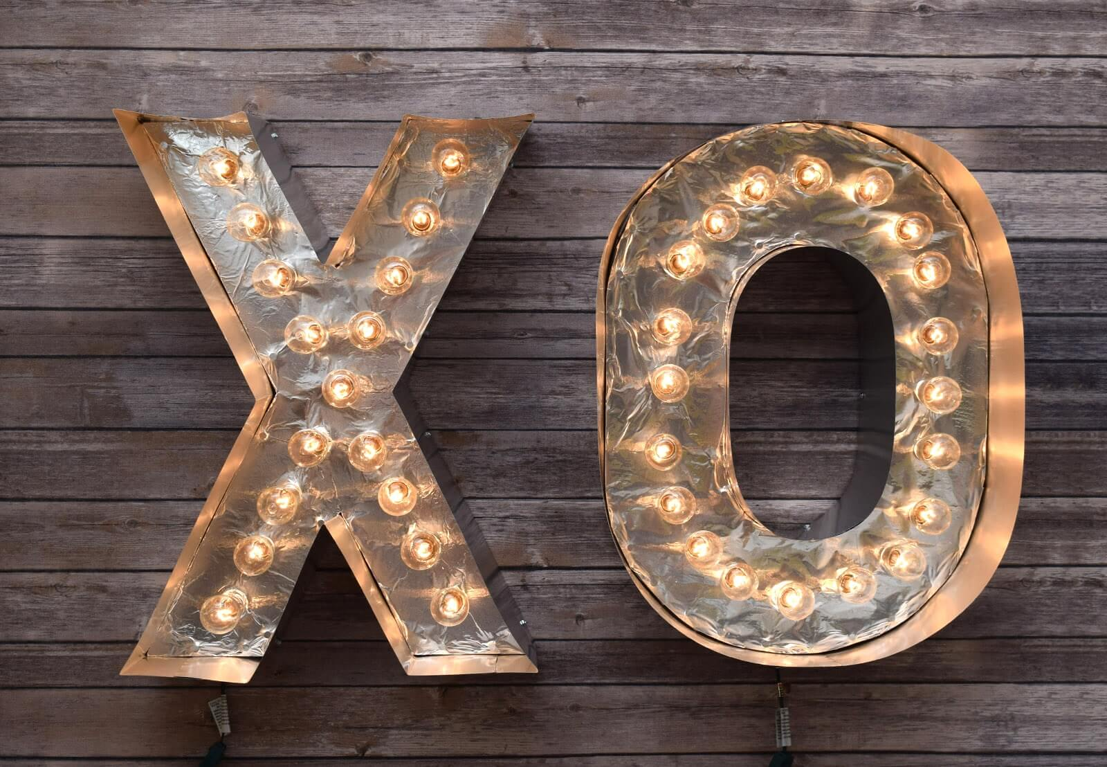 DIY Reflective Marquee Letters Step 29