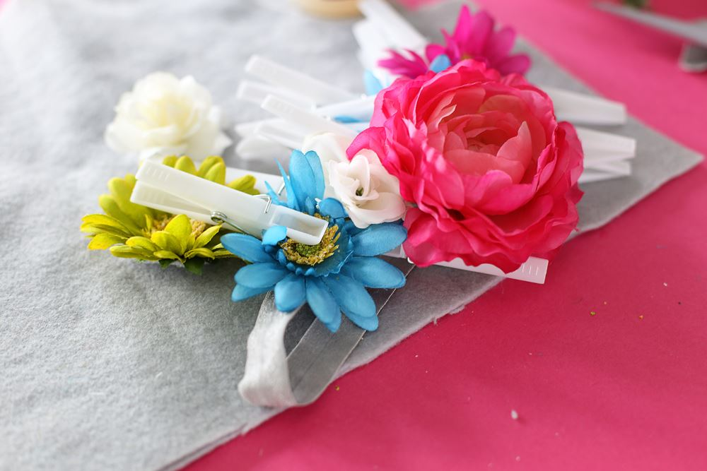DIY Floral Crown Step 3