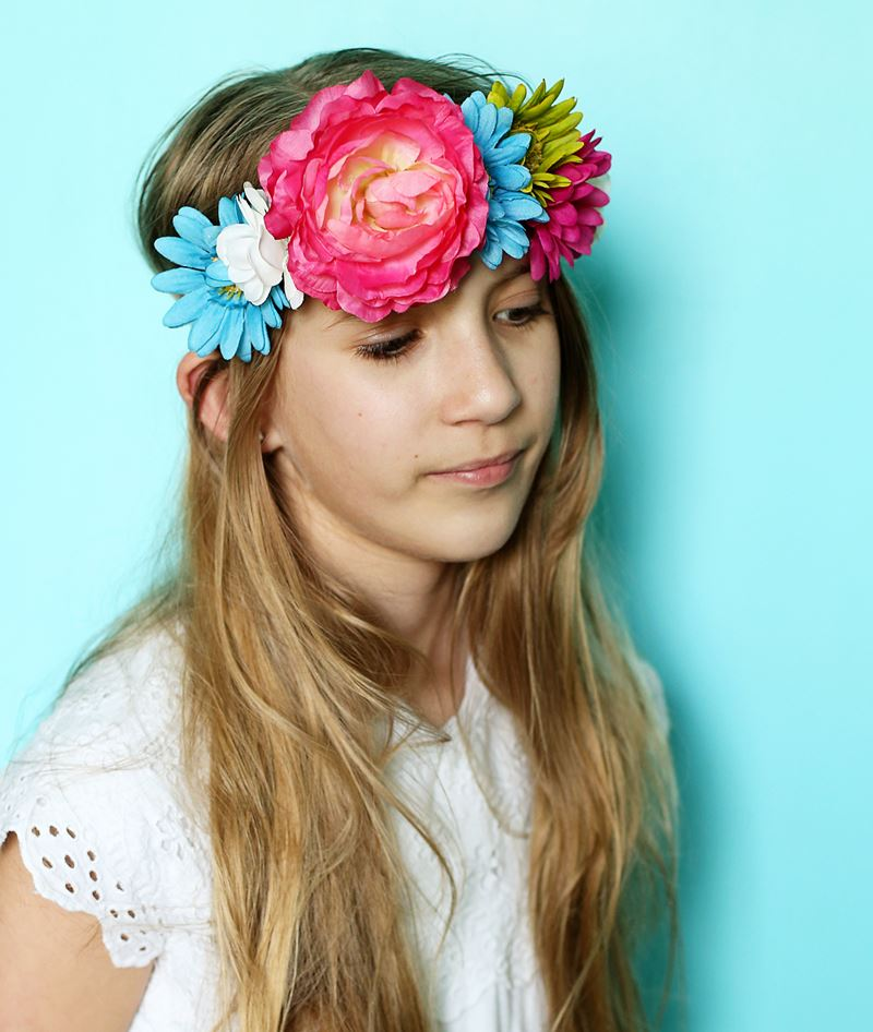 DIY Floral Crown Step 4