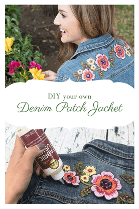 Picture of Flower Denim Jacket