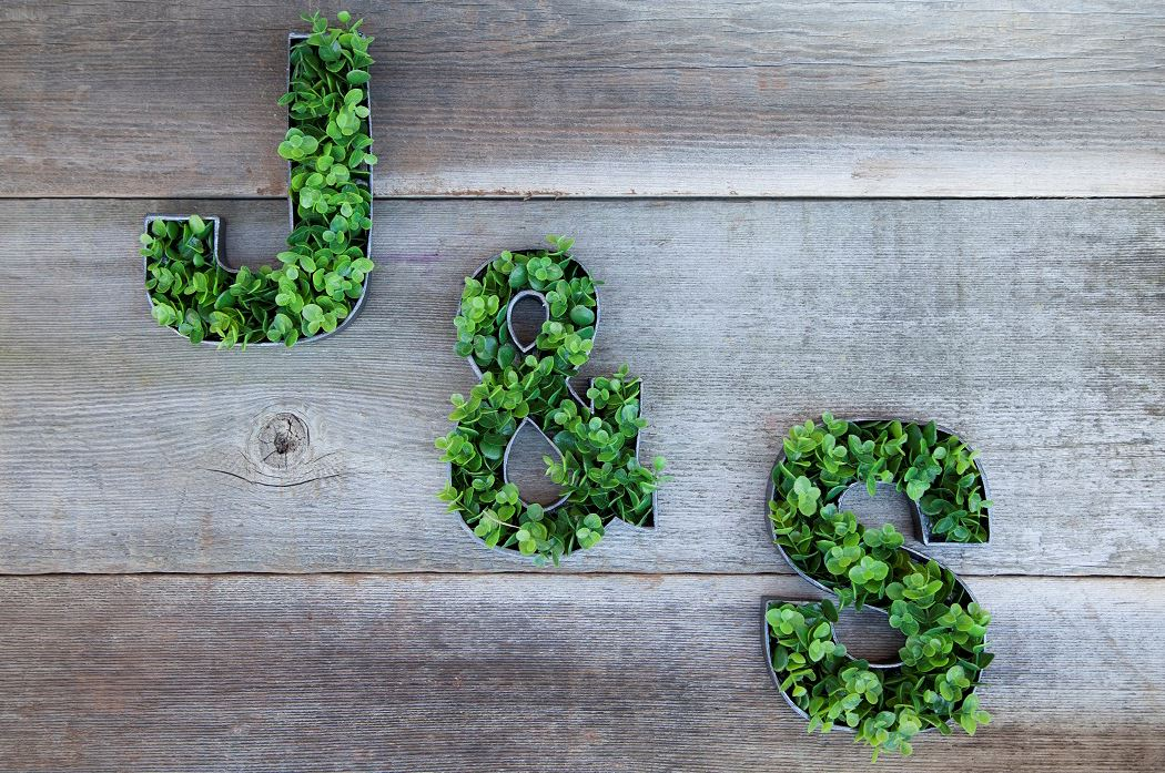 Picture of DIY Grass Floral Letters