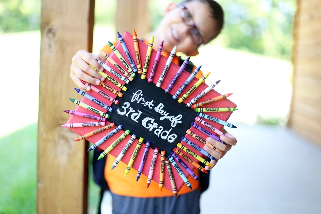 First Day of School Chalkboard Frame Step 5