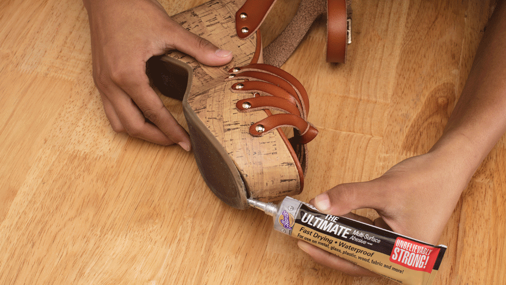 How to Fix a Broken Shoe Sole Step 1
