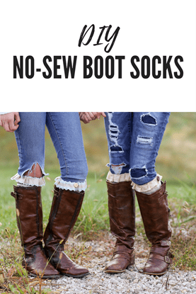 Picture of DIY No Sew Boot Socks