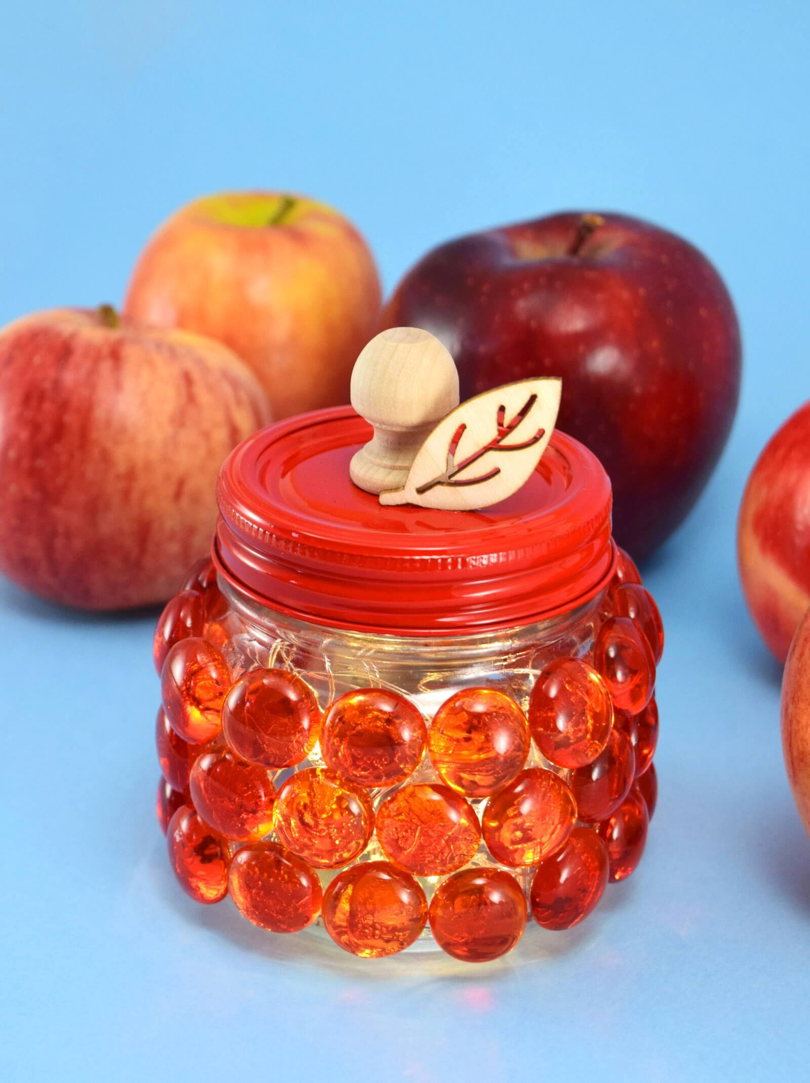DIY Glass Gem Apple Mason Jar Step 12