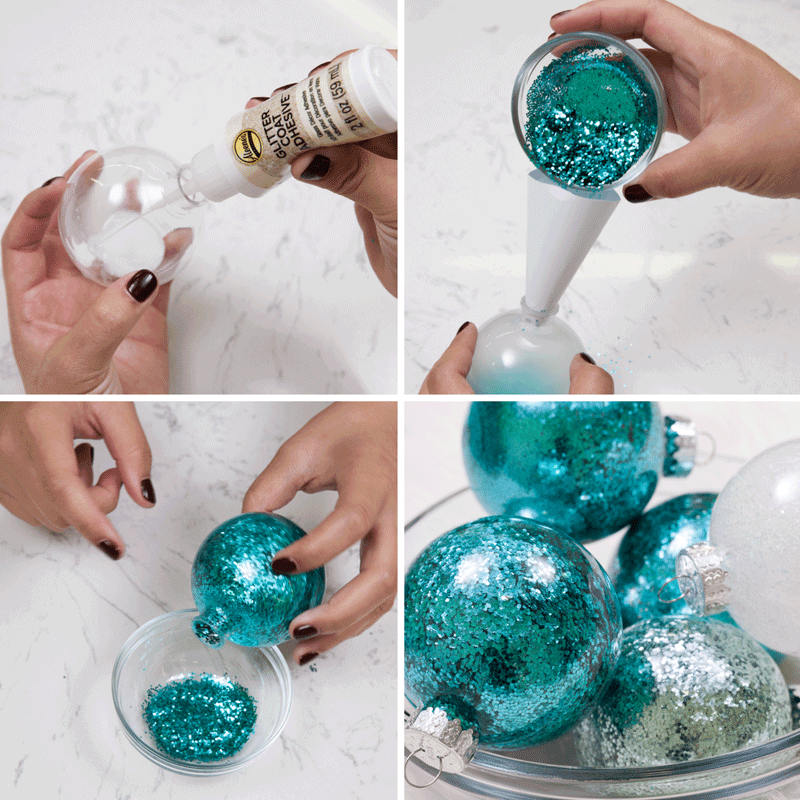 DIY Glitter Ornaments: 3 Easy Techniques Step 1
