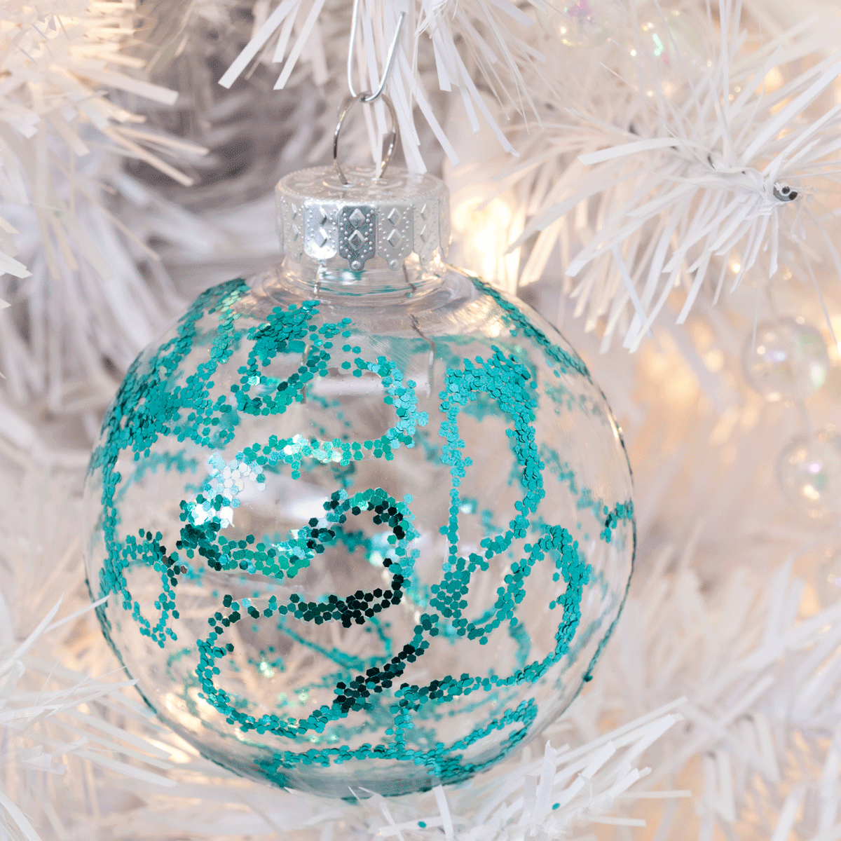 DIY Glitter Ornaments: 3 Easy Techniques Step 4