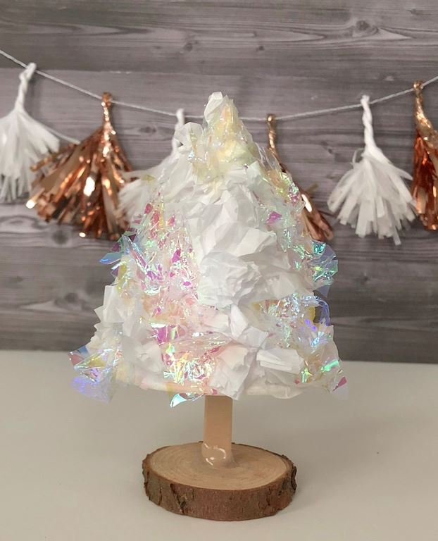 Picture of DIY Tissue Paper Cone Trees