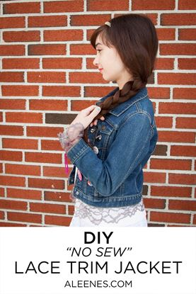 Picture of DIY Lace Trimmed Jacket
