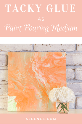 Picture of Tacky Glue as Paint Pouring Medium