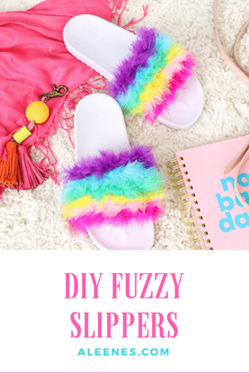 Picture of DIY Fuzzy Slippers
