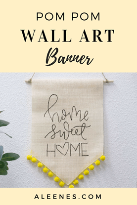 Picture of Pom Pom Wall Art Banner
