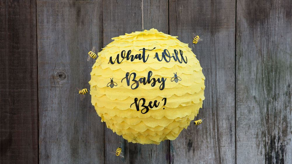 "Picture of ""What Will Baby Bee"" Gender Reveal Pinata"
