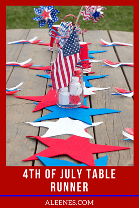 Picture of 4th of July Table Runner