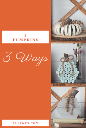Picture of 3 Pumpkins, 3 Different Materials