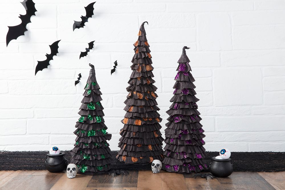 Picture of Paper Halloween Trees